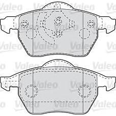 VALEO 598483 (4B0698151 / 4B0698151E / 8E0698151K) колодки тормозные audi: a4 (2000>2004) 1.6i