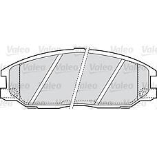 VALEO 598505 (5810126A30 / 5810126A10 / 5810139A40) Комплект тормозных колодок