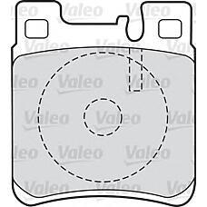 VALEO 598617 (0024201620 / 0024204620 / 0024200520) колодки дисковые задние\ mb w140 91> / w202 94> / w210 97> / w220 2.8 / 3.2 98>