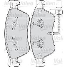 VALEO 598845 (4E0698151A / 4E0698151K / 4E0698151J) колодки тормозные дисковые