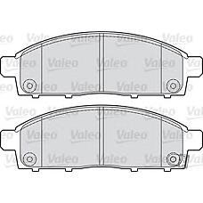VALEO 598893 (4605A284 / 4605A198 / MZ690356) колодки тормозные mitsubishi: l 200 II (k84