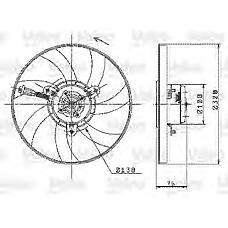 VALEO 698358 (6K0959455B) вентилятор радиатора VW Polo (Поло) 1,4-1,9 95-02 / Caddy (Кадди) 1,4-1,9 95-04 ac+