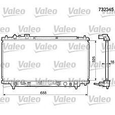 VALEO 732345 (B6BG15200F / B6FN15200 / Z50615200A) радиатор двигателя Mazda (Мазда) 323 1.5i 16v -1.6i -1.8i акп mot. b5.. / b6kp