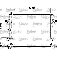 VALEO 732729 (9193265 / 1300189 / OPELRAR003) радиатор Opel (Опель) Astra (Астра) f, g, zafira