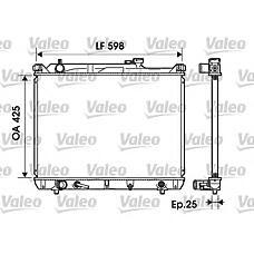 VALEO 734161 (1770052D10) радиатор двигателя Suzuki (Сузуки) grand Vitara (Витара) v6 2.5i / 2.7i 24v 2001-> (