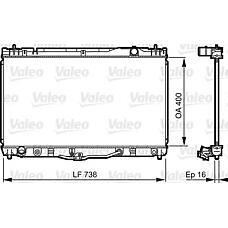 VALEO 734492 (1640020270 / 1640020271) радиатор