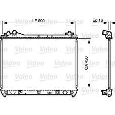 VALEO 735580 (1770066J10 / 735580_VL) радиатор Suzuki (Сузуки) grand Vitara (Витара) 3.2 2009> акпп