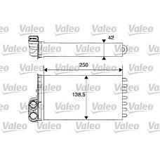 VALEO 812234 (6448K9) радиатор печки Citroen (Ситроен) c2 / c3
