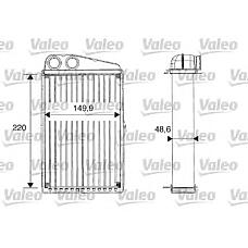 VALEO 812247 (7701207712 / 7701208323) радиатор отопителя Renault (Рено) Megane (Меган) II, Scenic (Сценик) II, grand Scenic (Сценик)