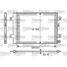 VALEO 814077 (8200182361 / 8200741257 / 921007794R) конденсор кондиционера