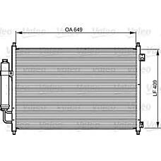 VALEO 814231 (92100JG000) конденсор кондиционера Nissan (Ниссан) x-trail (t31)