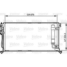 VALEO 814273 (MN151100) радиатор кондиционера Mitsubishi (Мицубиси) Lancer (Лансер) 03> (с осушитилем)