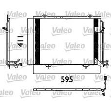 VALEO 817562 (2028300970) радиатор кондиционера mb w202