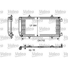 VALEO 817668 (6455AQ / 1489257080 / 14892570) радиатор конд.\ Citroen (Ситроен) c8 3.0i 02> с осушит.