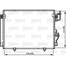 VALEO 817790 (MN123332 / MR513110) конденсор кондиционера Mitsubishi (Мицубиси) Pajero (Паджеро) 2.5td,3