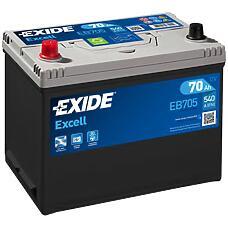 EXIDE EB705 (5600X6 / 70AH / FVT27017322211) аккумулятор excell 12v 70ah 540a 266х172х223 etn1 en клемы крепление b9