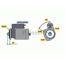 BOSCH 0001261026 (1447911 / 2031368 / 0579261) стартер 24v 5,5 kw scania p / r-series dc9 / 11 / 16, dc-dt12