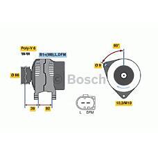 BOSCH 0986044330 (078903016H / 059903015G / 078903016F) генератор 120a