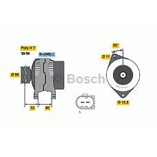 BOSCH 0986046210 (504009978) генератор 14v 140a