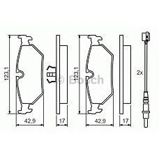 BOSCH 0 986 424 027 (JLM11903 / 425111 / 9404251248) колодки дисковые задние с abs\ Peugeot (Пежо) 806 2.0 / 1.9td-2.1td 94-02
