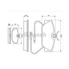 BOSCH 0 986 469 191 (7701202050 / 7701202289 / 7701203968) колодки дисковые передние c abs\ Renault (Рено) r25 2.2 / 2.4 / 2.7 / 2.8 86-92