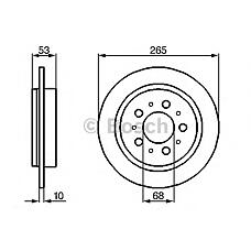 BOSCH 0986478042 (271895 / 561506J) диск тормозной