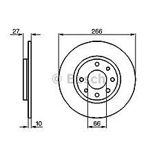 BOSCH 0986478090 (4246A9 / 424688 / 95575080) диск тормозной