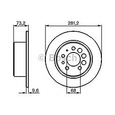 BOSCH 0 986 478 143  диск тормозной задний\ Volvo (Вольво) 240-960 2.0-2.9 / 2.4d 84>