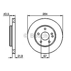 BOSCH 0 986 478 301 (2024210912 / 2024210712 / A2024210912) диск тормозной передний\ mb w202 2.0-2.8 / 2.0d / 2.2d 93>