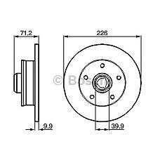BOSCH 0 986 478 332 (357615601B / 357615601A / 230312) диск тормозной задний\ VW Golf (Гольф) / vento / Passat (Пассат) 1.4-2.0 / 2.8 / 1.9tdi 91-99