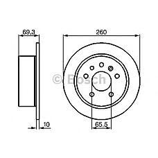 BOSCH 0986478430 (4241477 / 569105 / 90509590) диск тормозной