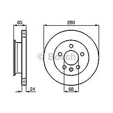 BOSCH 0 986 478 548 (701615301D / 701615301A / 230437) диск тормозной передний\ VW t4 2.5 / 2.5tdi 91-95
