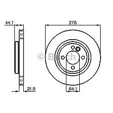 BOSCH 0 986 478 606 (34111502891 / 34116774984 / SDB101130) диск тормозной передний\ rover Mini (Мини) one / cooper 1.6 / 1.4d 01>