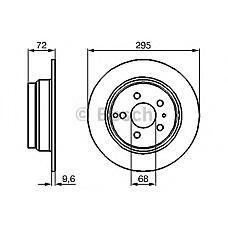 BOSCH 0 986 478 628 (11531721002S1 / 11537511580S1 / 561867J) диск тормозной задний\ Volvo (Вольво) 850 / s70 / c70 / v70 2.0-2.5tdi 93-05