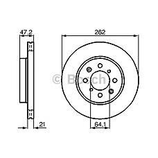 BOSCH 0986478657 (45251SK3E00 / GBD90830 / EAP9579) диск тормозной