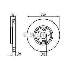 BOSCH 0 986 478 743 (7701206614 / 8200007122 / 230675) диск тормозной передний\ Renault (Рено) Laguna (Лагуна) 1.6-2.0 / 1.9-2.2cdi 01>