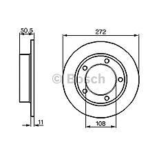 BOSCH 0 986 478 746 (21213501070 / 5221 / 21210350107000) диск тормозной передний\ Lada (Лада) niva all 80>