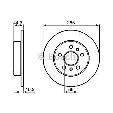 BOSCH 0986478757 (7700800003 / 7701204296 / 7701205845) диск тормозной