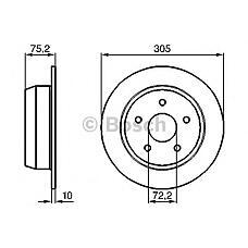 BOSCH 0986478771 (52098666) диск тормозной