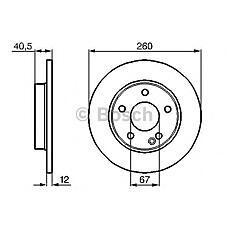 BOSCH 0 986 478 874 (1684210112 / A1684210112 / 652600) диск тормозной передний\ mb w168 1.4-1.7cdi 97>
