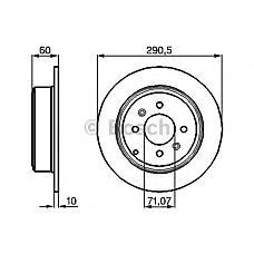 BOSCH 0 986 478 877 (4246T6 / 4246L7 / 4246T7) диск тормозной задний\ Peugeot (Пежо) 406 1.8-3.0 / 2.0hdi / 2.2hdi 95-04