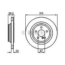 BOSCH 0 986 478 966 (2204230312 / 2204230512 / A2204230312) диск тормозной задний\ mb w220 5.5 99-05