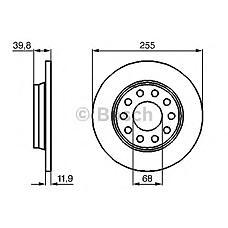BOSCH 0 986 478 987 (8E0615601D / 8E0615601Q / 8E0615301AA) диск тормозной задний\ Audi (Ауди) a4 1.6-3.0 99>