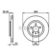BOSCH 0 986 479 156 (357615301A / 561821J) диск тормозной передний\ VW Golf (Гольф) / Passat (Пассат) / vento 2.0 / 2.8 / 2.9 91-98