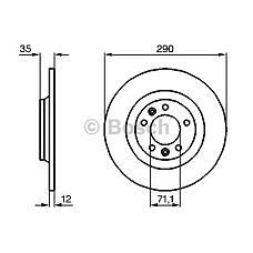 BOSCH 0 986 479 194 (4246P9 / 424972 / 4249C1) диск тормозной задний\ Peugeot (Пежо) 407 / 607 / 508 / rcz 1.6i-2.7hdi 04>