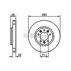 BOSCH 0 986 479 266 (424920 / 424921 / 4249J9) диск тормозной передний\ Citroen (Ситроен) jumpy, Peugeot (Пежо) expert 1.6hdi 07>
