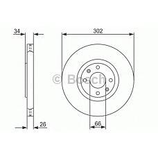 BOSCH 0986479288 (4246C0 / 4246P5 / 424933) диск тормозной