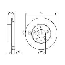 BOSCH 0 986 479 315 (424937 / 51740249 / 51705758) диск тормозной передний\ Fiat (Фиат) ducato, Peugeot (Пежо) Boxer (Боксер) 2.2d / hdi / 2.3d / 3.0hdi 06>