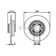 BOSCH 0986479400 (424966 / 424965 / 424965424966) диск торм с подш задн Citroen (Ситроен) c4 Peugeot (Пежо) 308