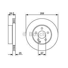 BOSCH 0 986 479 406 (2044210012 / 0004211912 / A2044210012) диск тормозной передний\ mb w204 / s204 1.8 / 2.1 07>